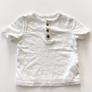 Old Navy White Henley Size 12-18 Months
